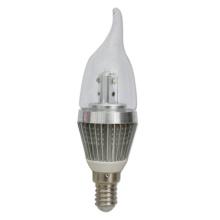 2 ans de garantie LED allumant la lumière de bougie de 3W LED