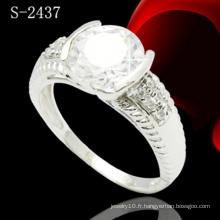 Bague à diamant en argent sterling 925