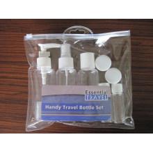 2PCS Travel Cosmetic Bottle Set, Fine Mist Sprayer / Loção / Disco Top Cap Bottle, Jar