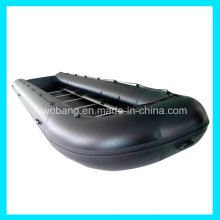 Bote de salvamento inflable grande negro de 8m