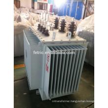 Oil immersed wound core full copper distribution transformers 6.6kv /415v