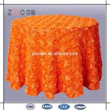Hot Sale Customized Solid Color Luxury Rosette Tissu de table pour le mariage