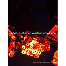 En13356 Insignia de seguridad / Insignia reflectante / Glow-in-Dark 5cm