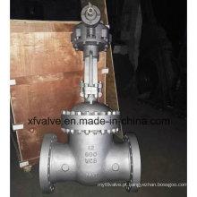 150lb 300lb 600lb aço fundido engrenagem cônica operação válvula de portão