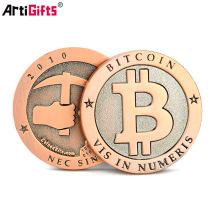China suppliers product shopping custom design antiqu metal bit coin