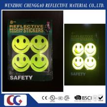 Fluorescent Smile Face Blinklicht Aufkleber