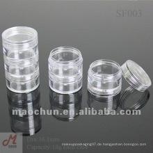 SF004 Transparentes stapelbares Sahneglas