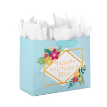 Customize Large Mother's Day Gift With Tissue Paper Shopping Bag With Your Own Logo
