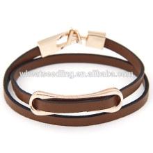 Mode basse moq vente en gros gros gros bracelet en cuir marron