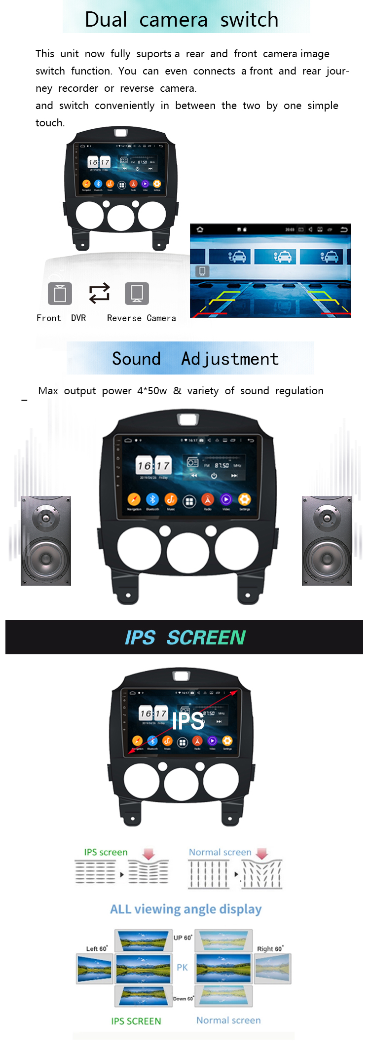 car music system for Mazda 2 2011