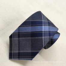 Lazos de los hombres de encargo de la tela escocesa de seda de la importación de la moda 100%