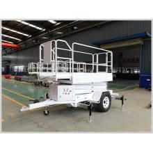 Trailed Portable Mobile Hydraulic Scissor Lift Platform