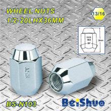 Lug Wheel Nut with Silver