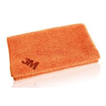 Serviette de toilette orange en tissu microfibre / coton de qualité supérieure