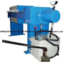 Leo Filter Presse Kleine Kapazität Semi-Auto Hydraulische 470 Filterpresse zum Testen