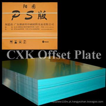 China Cxk Impressão Litográfica PS Placa