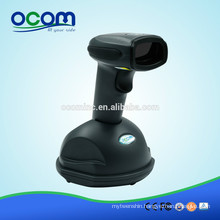 OCBS-W800-W White USB 433MHz Wireless Laser Barcode Scanner with Memory