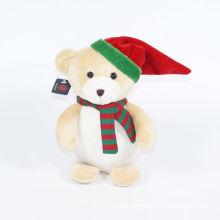 Plush Cap Bear Christmas Ornament