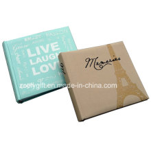 New Design 4X6 200 Photos Fabric Covered Family Photos Albums with Slogan Print