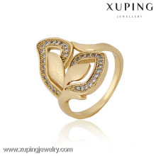 12835 China Großhandel Xuping Fashion Elegante 18 Karat Gold Perle Frau Ring