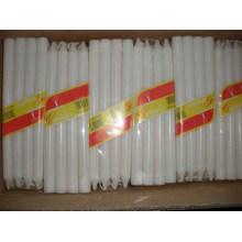 Household Taper Sticker Pillar Wax White Candle