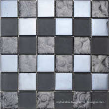 Silver Metal Mosaic Tile Stainless Steel Decor Kitchen Room