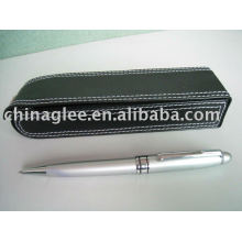 promotion pen set PU leather case with metal pen