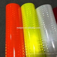 Hoja prismática reflexiva de acrílico anaranjada fluorescente