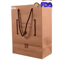 Water proof good quality manufacturer supply with your own logo kraft paper bag brown for restaurant shopping
