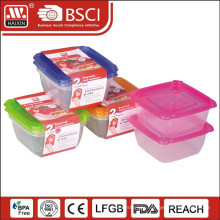 Transparent Microwave Food Container(0.7L 2PCS)