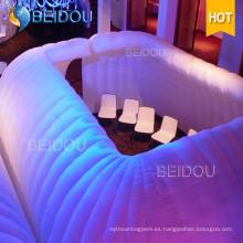 Al aire libre inflable coche igloo claro LED fiesta tiendas inflables burbuja camping domo tienda para la venta