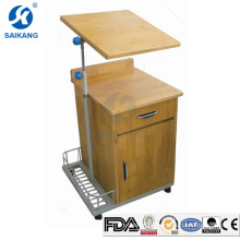 SKS103 Hospital High Quality Wooden Living Room Bedside Cabinets With Dinning Table