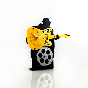 Guitar Playing Gear Desk Clock