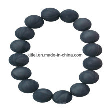 Bunter gesunder chinesischer Lieferant PVC-schwarzes Korn-Plastikarmband-Andenken