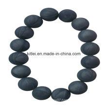 Colorful Healthy Chinese Supplier PVC Black Bead Plastic Bracelet Souvenir