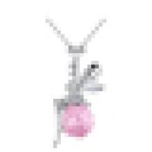 925 Sterling Silver Colliers Anges Ailes Ahiny Papillon Fée Saphir Pendentif Collier pour Femmes Bijoux