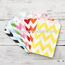 Colorful chevron paper bag