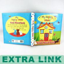 Printing Kid Hard Back Board English story preschool jigsaw Book