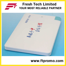Modificado para requisitos particulares 2600mAh cargador de banco de energía de tarjeta de crédito Slim para promoción (C504)