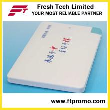 Carregador de magro banco de potência de cartão de crédito personalizado 2600mAh para promoção (C504)