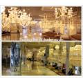 lustre en cristal de lustre d'entrée, lustre moderne de plafond de fer d'or