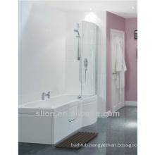 1700mm Bath Sizes Walk in Bath P Shape Acrylic Tubs