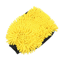 Microfiber double side chenille car cleaning glove