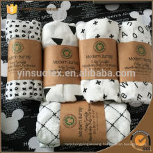 "Geometric Pattern With Packaging Muslin bamboo fiber Newborn Baby Bath Towel Swaddle Blanket 47""*47"""