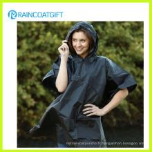 Poncho de pluie à capuchon en PVC léger (RVC-034)