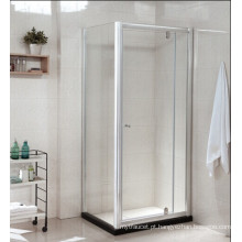 Armário de vidro temperado do chuveiro do banheiro com pedra artificial (P22)