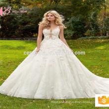 Imagem real Império victorian elie saab vestido de qualidade superior vestido de noiva vestido de noiva vestido de casamento China Factory