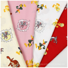Тканая гладкая ткань из поплин с принтом для одежды