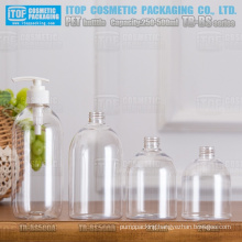 TB-BS Series 250ml 320ml 500ml fat color customizable hot-selling good quality round hand sanitizer pet bottle