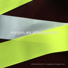 Ruban de tissu fluorescent réfléchissant avec perle de verre